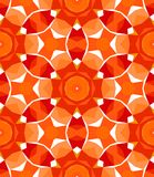 Multicolor geometric pattern in bright red. Stock Photography