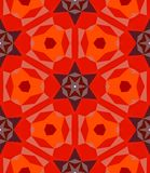 Multicolor geometric pattern in bright red. Stock Photos