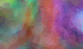 Multicolor geometric rumpled triangular low poly origami style gradient illustration graphic background. Vector polygonal design for your business. Rainbow Royalty Free Stock Photos