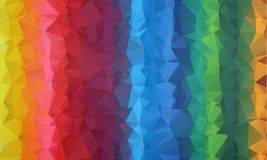 Multicolor geometric rumpled triangular low poly origami style gradient illustration graphic background. vector illustration