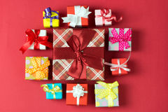 Multicolor gift boxes Royalty Free Stock Image