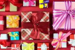 Multicolor gift boxes Royalty Free Stock Photography