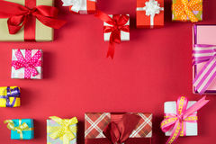 Multicolor gift boxes Stock Photography