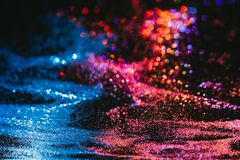 Multicolor glitter background nature elements Royalty Free Stock Photos