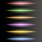 Multicolor glowing particles of light. Colorful realistic transparent special effects. Multicolor glowing particles of light. Vector illustration stock illustration