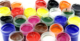Multicolor gouache for paint Stock Image