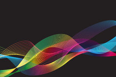 Multicolor gradient lines and wave background Royalty Free Stock Image