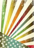 Multicolor grunge american flag Royalty Free Stock Photo