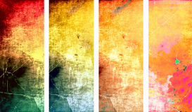 Multicolor grunge banner Stock Image