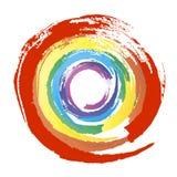 Multicolor grunge okrąg Obrazy Stock