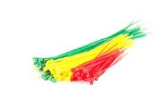 Multicolor gruppnylonkabelkontakter Royaltyfria Foton