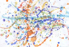 Multicolor guasz farba Obrazy Royalty Free