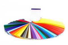 Multicolor guide. Opened color guide book isolated Stock Images