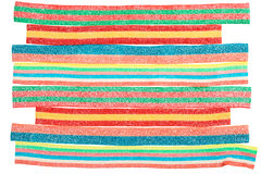 Multicolor gummy candy closeup background Royalty Free Stock Photography