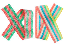 Multicolor gummy candy (licorice) band set Royalty Free Stock Images
