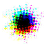 Multicolor halftone blot with dots Stock Image