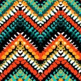 Multicolor hand drawn pattern zigzag Stock Image