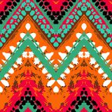 Multicolor hand drawn pattern zigzag Stock Photo