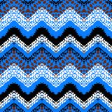 Multicolor hand drawn pattern zigzag Stock Photography