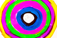 Multicolor hand painted on paper Royalty Free Stock Photos