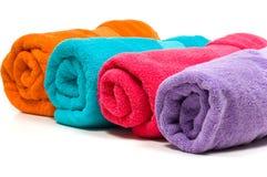 multicolor handdukar arkivbild