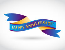 multicolor happy anniversary ribbon Royalty Free Stock Images