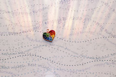 Multicolor heart stock photos
