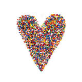 Multicolor Heart Shape Royalty Free Stock Photos