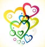 Multicolor hearts Stock Photo