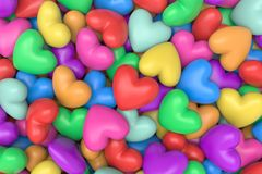 Multicolor hearts background Royalty Free Stock Photo