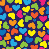 Multicolor hearts of seamless pattern Royalty Free Stock Images