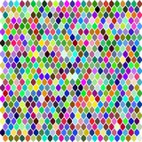 Multicolor hexagon mosaic vector illustration