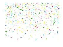 Multicolor hexagonal shape confetti beautiful. Confetti new background blurred. A good selection of confetti. Multicolor hexagonal shapes digital stock illustration