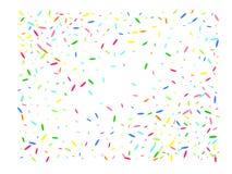 Multicolor hexagonal shape confetti glowing vector illustration