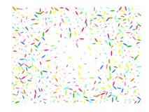 Multicolor hexagonal shape confetti wide royalty free illustration