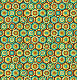 Multicolor hexagons Royalty Free Stock Photography