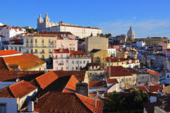 Multicolor houses in Lisbon, Portigal Stock Photo