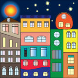 Multicolor houses royalty free illustration