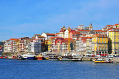 Multicolor houses of Porto, Portugal Royalty Free Stock Images
