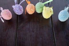 Multicolor, huevos de Pascua fotografía de archivo libre de regalías