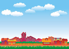 Multicolor hus stock illustrationer
