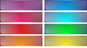 Multicolor icon set Stock Photo