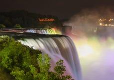 Multicolor Illuminated Niagara Falls Royalty Free Stock Image