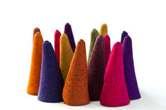 Multicolor Incense. Multicolor with fragrance incense for relaxation Stock Photography