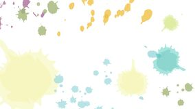 Multicolor Ink Spatter Video Background. Banner stock illustration