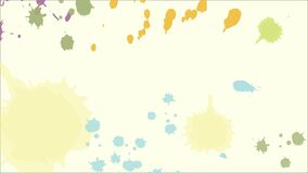 Multicolor Ink Spatter Video Background stock video