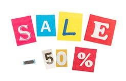 Multicolor Inscription Sale Royalty Free Stock Photos