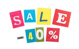 Multicolor Inscription Sale Stock Photo