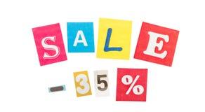 Multicolor Inscription Sale Stock Image