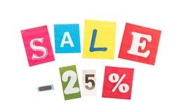 Multicolor Inscription Sale Stock Photography